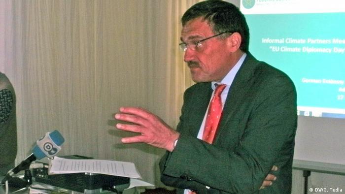 EU Klima-Gesprächsrunde in der deutschen Botschaft in Addis Abeba ACHTUNG SCHLECHTE QUALITÄT (DW/G. Tedla)