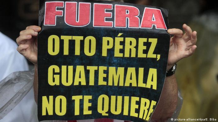 Guatemala Protest, Otto Perez Molina