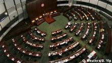 China Hongkong Parlament Abstimmung zu Wahlreform Plenarsaal