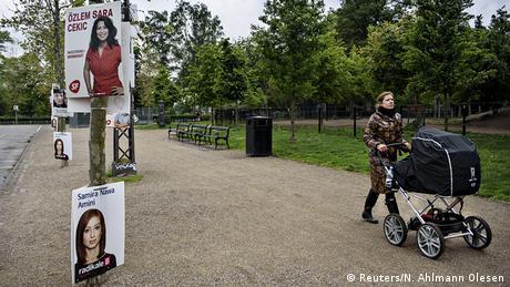 Dänemark Wahlen Wahlplakate in Kopenhagen