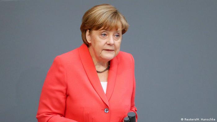 Deutschland Merkel Regierungserklärung