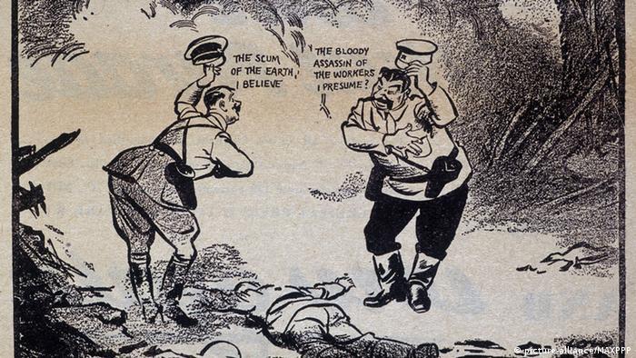 Карикатура на Гітлера та Сталіна