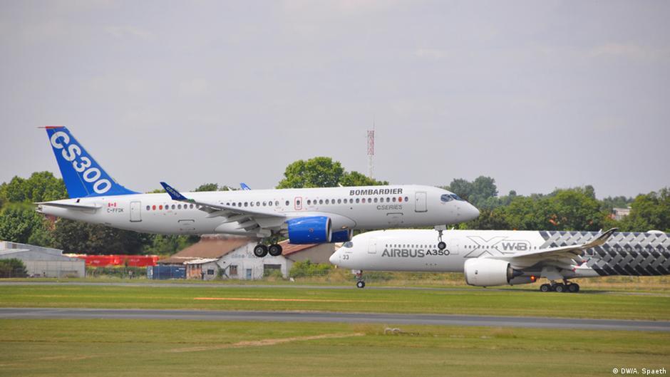 Bombardier CS300 и Airbus A350 XWB