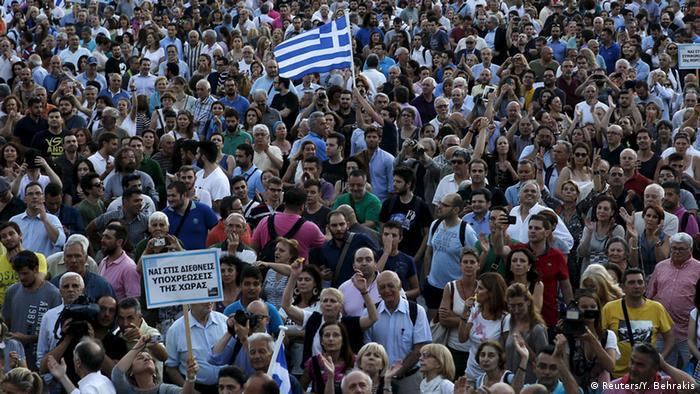 Griechenland Athen Demonstration für den EU-Verbleib