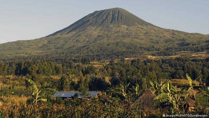 The Zandbergen Muhabura Volcano in the Virunga National Park in DRC
