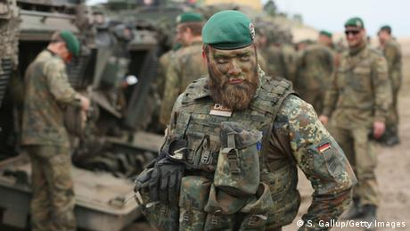 German soldier taking part in military exercises for VJTF (S. Gallup/Getty Images)