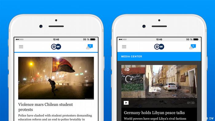 DW News App Screenshot 1