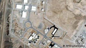 Luftaufnahne Iran Atomanlage in Natan