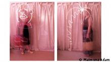 Serie O Vestido Viajante: Duplo Vestido (diptico) Impressão digital sobre papel Hahnemühle Edição única 60 x 40 cm cada 2008 Colecção Privada, Lisboa Catálogo da exposição Bon Voyage, Outubro 2013