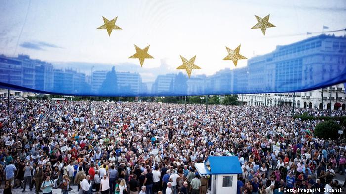 Griechenland EU Proteste Pro EU