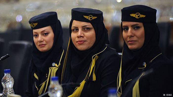 Стюардессы авиакомпании Iran Air
