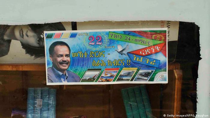 Eritrea Asmara Poster Präsident Afewerki