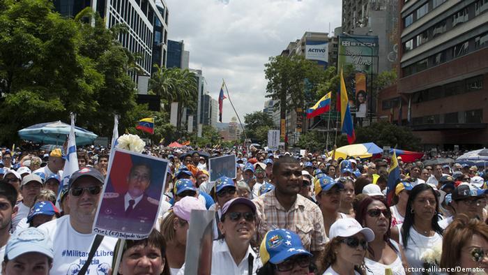 Manifestación en Caracas, el 30 de mayo.