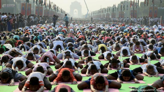 Indien Yoga Day Neu Delhi