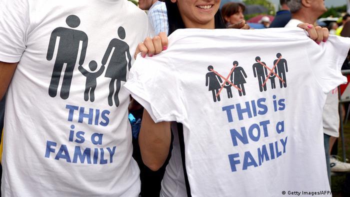 Italiener demonstrieren gegen homosexuelle Lebenspartnerschaften (foto: Getty Images)