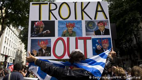 Demonstration gegen die Griechanland-Politik in Paris