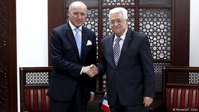 Fabius trifft Abbas in Ramallah