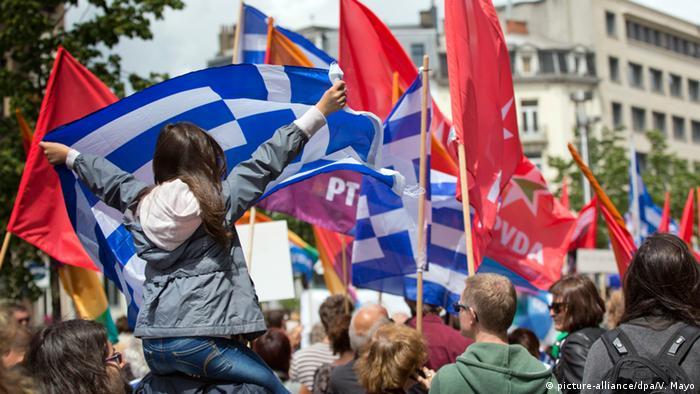 Solidaritätsbekundungen für Griechenland in Brüssel