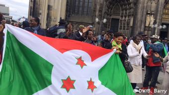 Les opposants burundais manifestant à Cologne en 2015