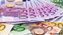 Symbolbild Euroscheine Münzen