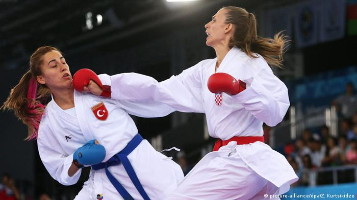 Karate competition in Baku 2015