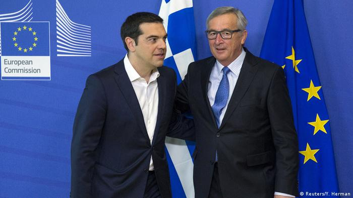 Alexis Tsipras and Jean-Claude Juncker