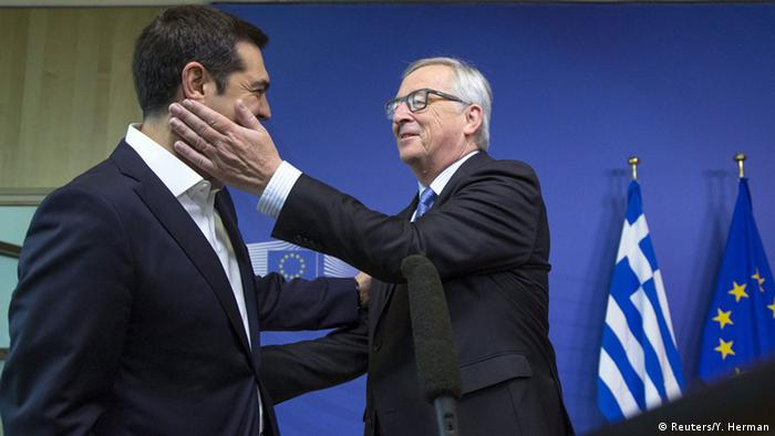 Alexis Tsipras si Jean-Claude Juncker