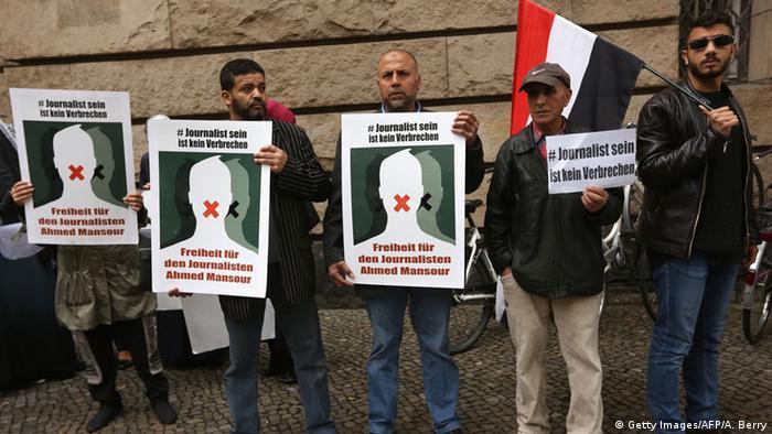 Demonstrație pentru eliberarea lui Ahmed Mansur