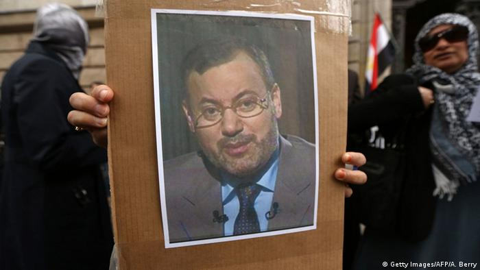 Deutschland Demonstration für die Freilassung von Ahmed Mansur