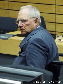 Deutschland EU Finanzministerrat in Brüssel Schäuble