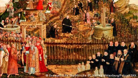 Αυτή η εικόνα κεντρίζει την προσοχή κάθε επισκέπτη της εκκλησίας της Παρθένου Μαρίας. Ο ζωγράφος και φίλος του Λούθηρου, Λούκας Κράναχ ο Πρεσβύτερος, απαθανάτισε τους ανθρώπους που διαδραμάτισαν βασικό ρόλο στη Μεταρρύθμιση: τον Μαρτίνο Λούθηρο, τον Φίλιππο Μελάχγθωνα, τον εαυτό του καθώς και την σύζυγο του Λούθηρου, Καταρίνα φον Μπόρα.