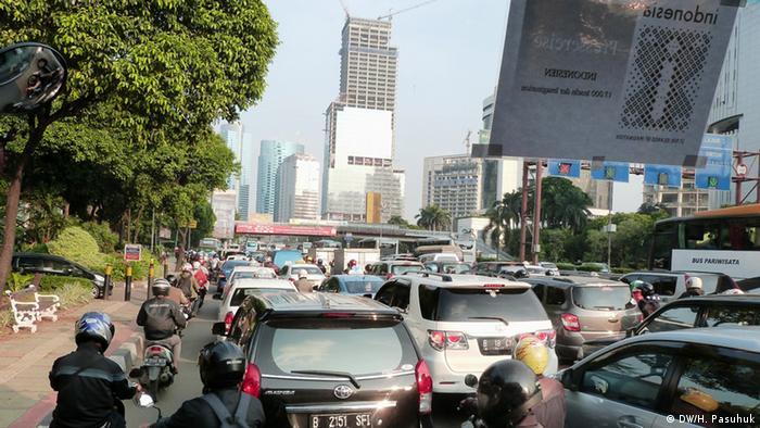 Indonesien Stau in Jakarta