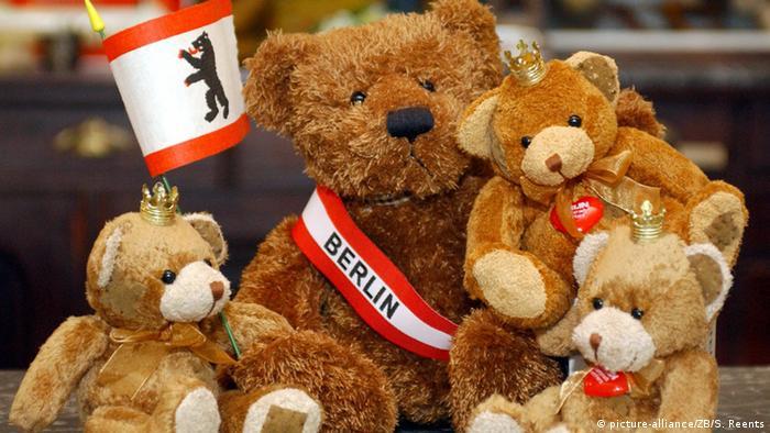 Берлинские медведи в сувенирном магазине