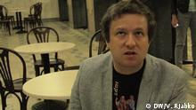 Juni 2015 Anton Dolin, russischer Filmkritiker; Copyright: DW/V. Rjabko