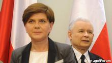Warschau Polen Beata Szydlo Jaroslaw Kaczynski, Parlamentssitzung