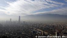 Foto aérea de Santiago, Chile