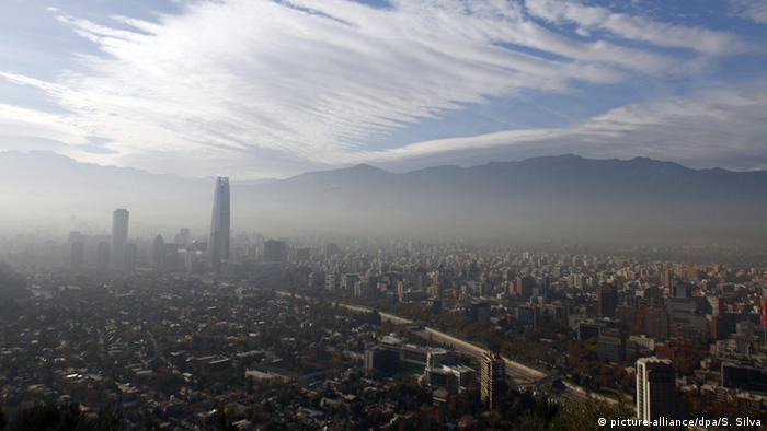 Foto aérea de Santiago de Chile