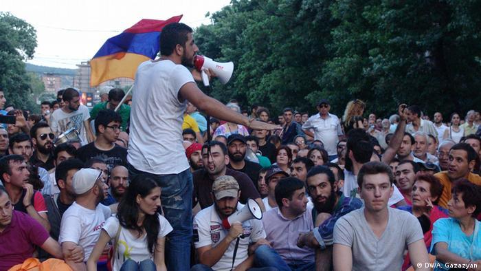 Учасники акції протесту в Єревані