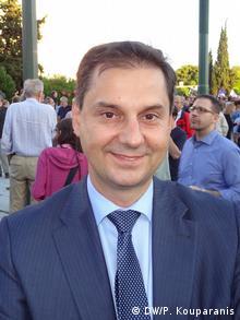 Griechenland Pro-europäische Kundgebung - Charis Theocharis (DW/P. Kouparanis)
