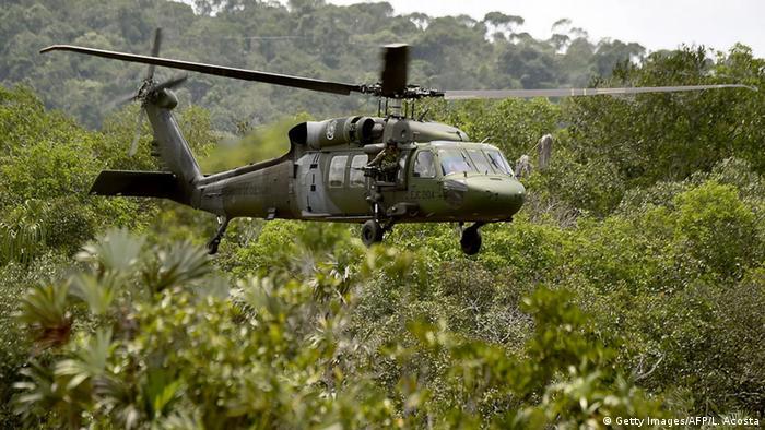 Kolumbien Militärhubschrauber Black Hawk