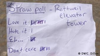 A piece of paper with votes on it.