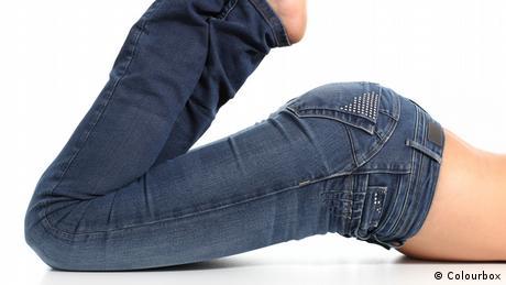 Symbolbild Kleidung enge Jeans