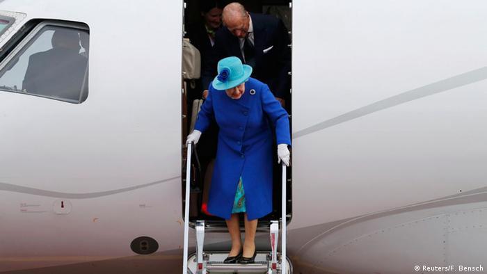 Deutschland Ankunft der britischen Queen