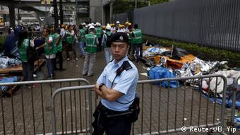 China Hongkong Räumung der Protestcamps