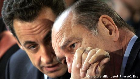 Jacques Chirac and Nicolas Sarkozy