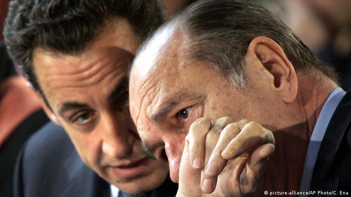 Jacques Chirac and Nicolas Sarkozy