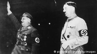 Ernst Röhm alongside Adolf Hitler