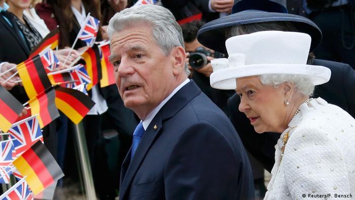 Deutschland Queen in Berlin bei Gauck