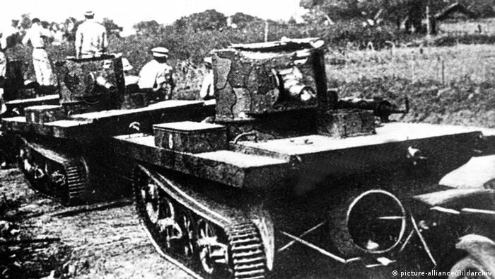 Chinesisch-japanischer Krieg - Panzer der chinesischen Armee