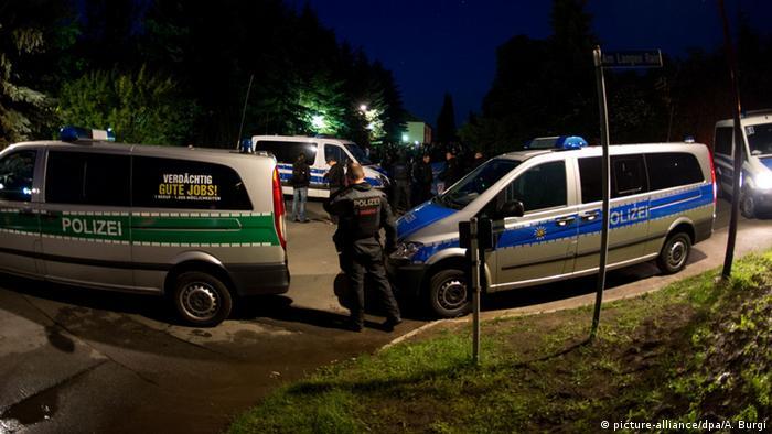Police cars in Freital